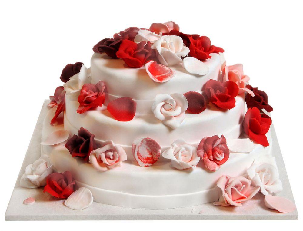Rosenregen Torte