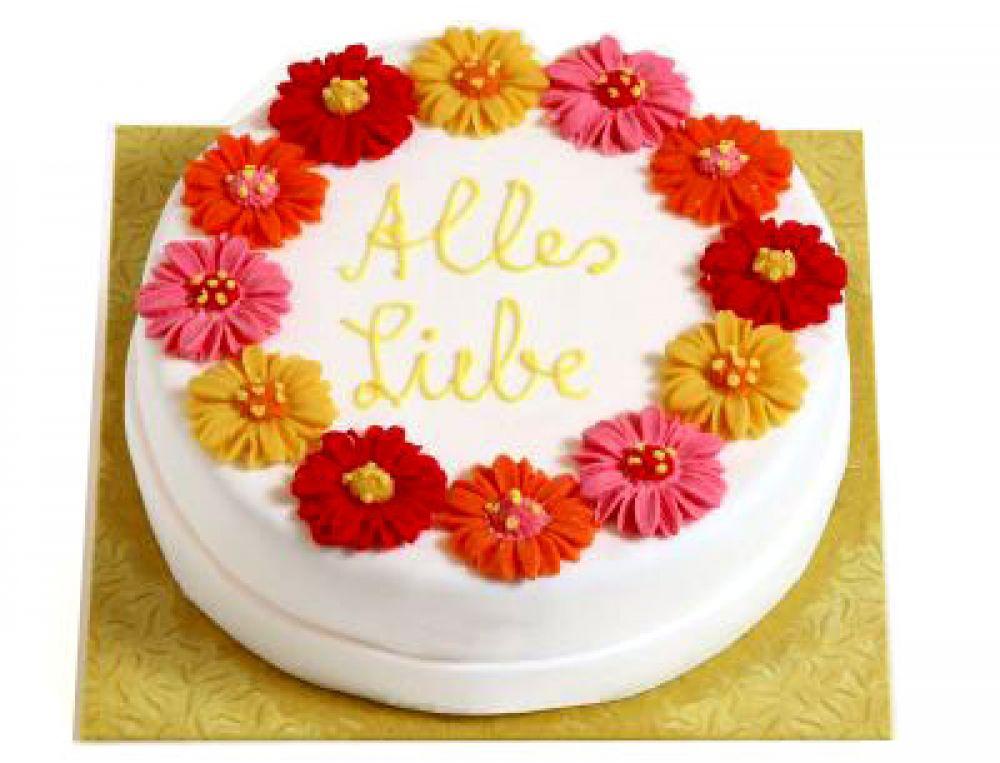 Sommerblumen Torte