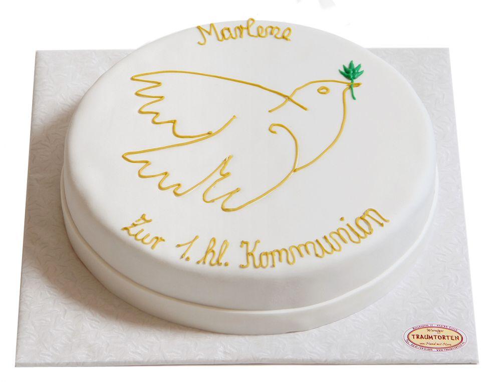 Taubenumriss Torte