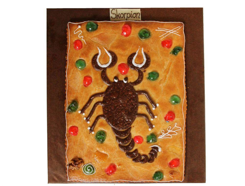 Teegebäck Tierkreiszeichen Skorpion