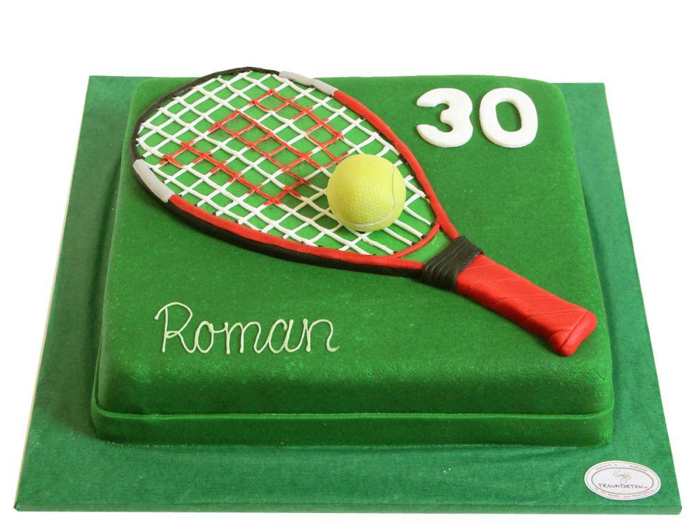 Tennisschläger Torte