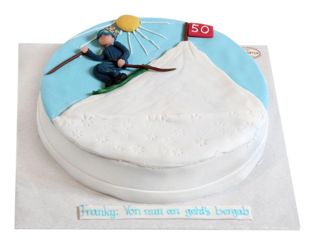 Tiefschnee Abfahrt Torte