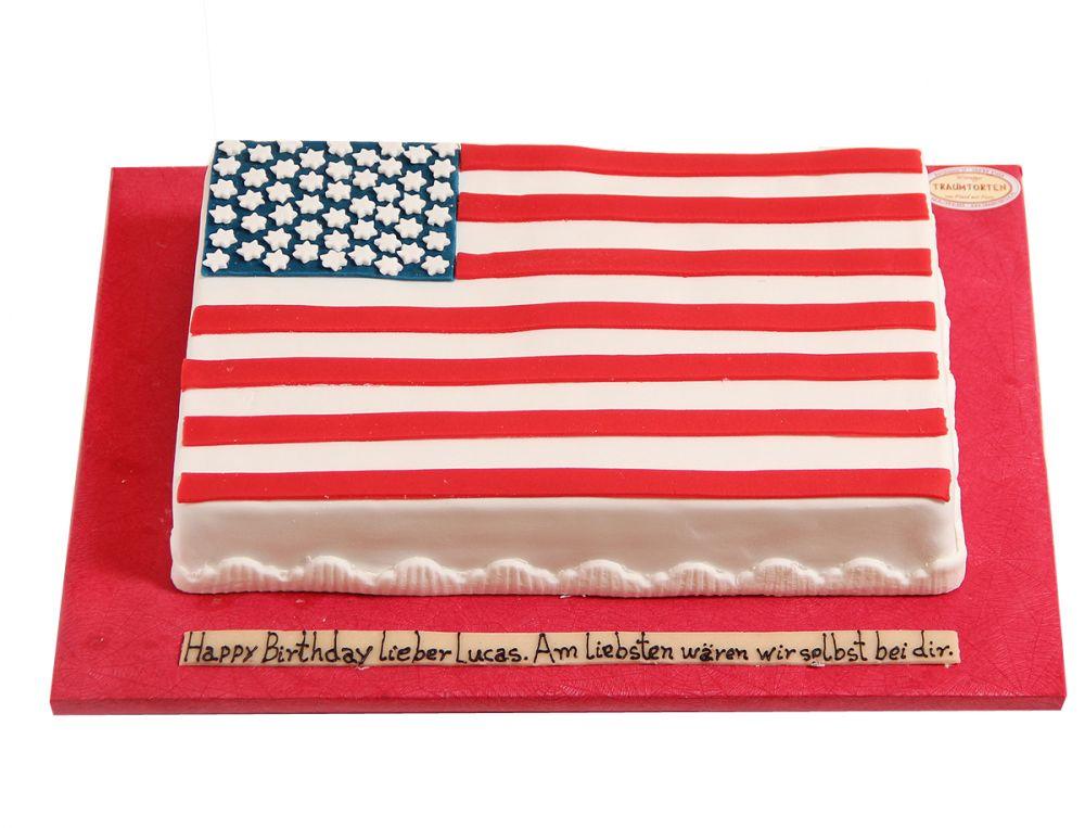 USA Flagge Torte