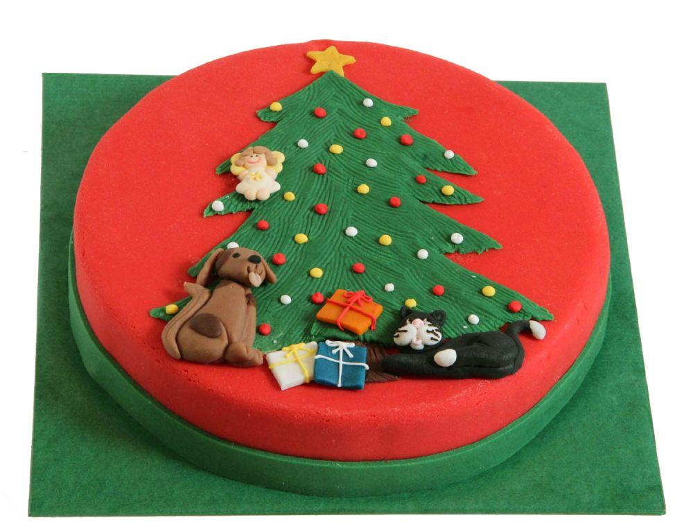 Weihnachtliche Bescherung Torte