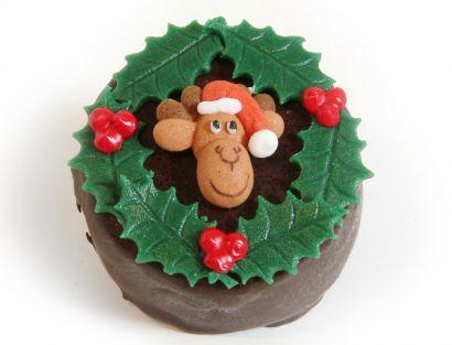12 Weihnachts Törtchen Elchkopf & Ilex