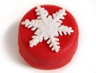 12 Weihnachts Törtchen Schneeflocke