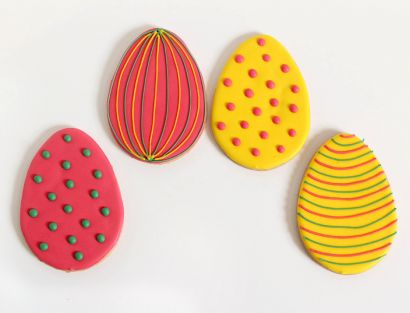 5 Bunte Oster Gebäck Eier