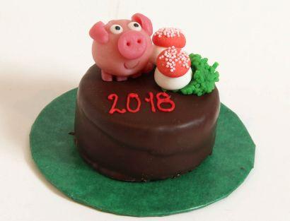 12 Glücks Törtchen Glücksschwein & Pilzen