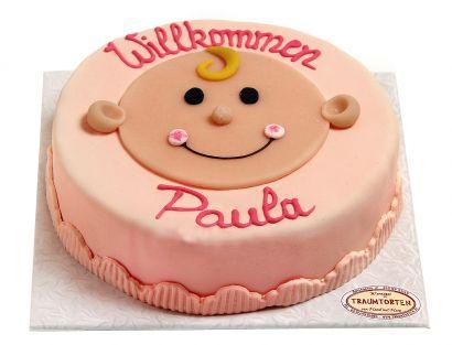 Baby Mädchen Torte