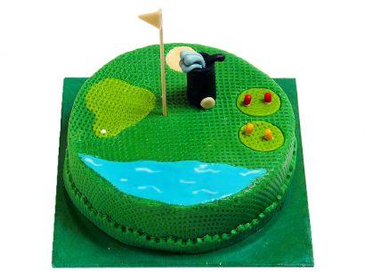 Für den Golfspieler Torte