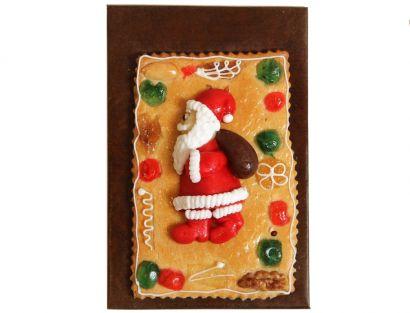 Gebäckplatte mit eiligem Weihnachtsmann