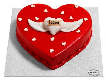 Geflügeltes Herz Torte