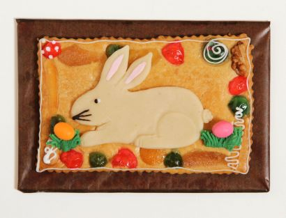 Gepäckplatte mit Hasen