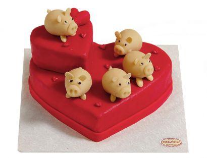 Glücksschwein Torte
