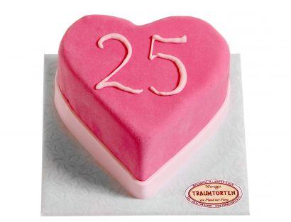 Herz mit Zahl Torte