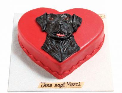 Hundekopf Dogge Torte