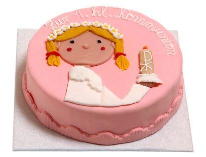 Kommunion und Konfirmation mit Mädchen Torte