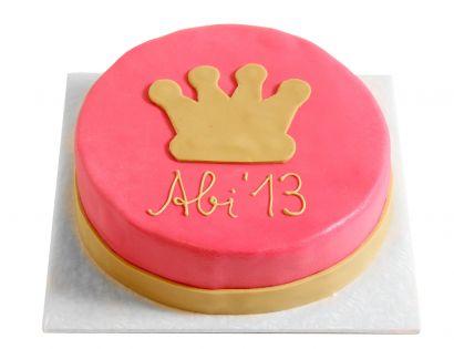 Krone pink & gold Torte