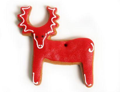 Lebkuchen - Elch rot (5 Stück)