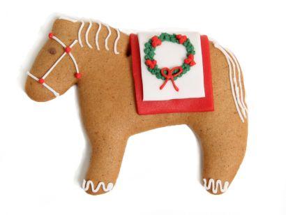 Lebkuchen - Pferd mit Sattel (5 Stück)