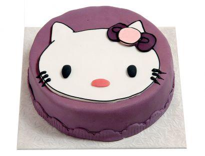 Lila Katzen Torte