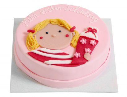 Mädchen mit Schultüte Torte