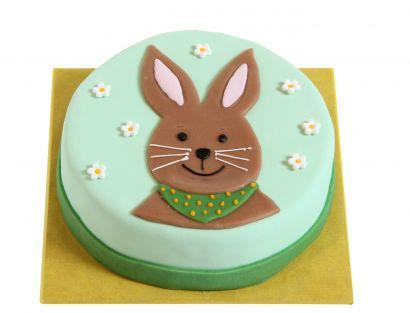 Mintgrüne Osterhasen Torte