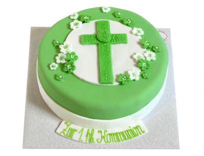 Mintgrünes Kreuz Torte