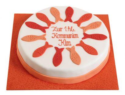Orange Fische Torte