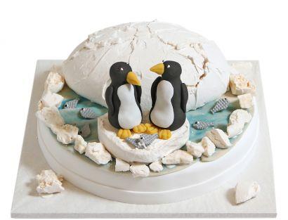 Pinguin Paar Torte