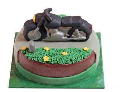 Plastisches Motorrad Torte