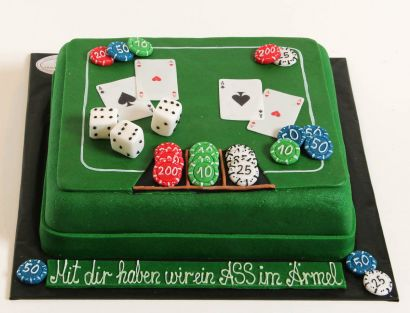 Pokertisch Torte