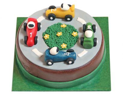 Rennstrecken Design Torte