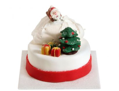 Rodelnder Weihnachtsmann Torte