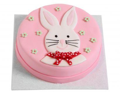 Rosa Osterhasen Torte