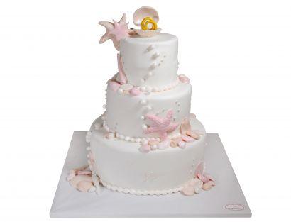 Rosa Strandliebe Torte