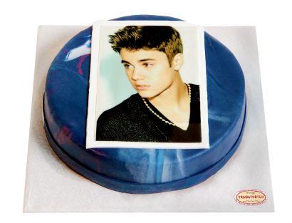 Runde melierte Foto Torte