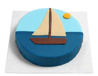 Segelboot Torte