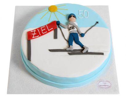 Ski Langlauf Torte