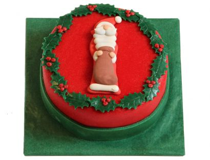 Weihnachtsmann mit Sack Torte