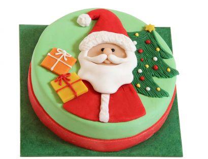 Weihnachtsmann Torte mit Geschenken