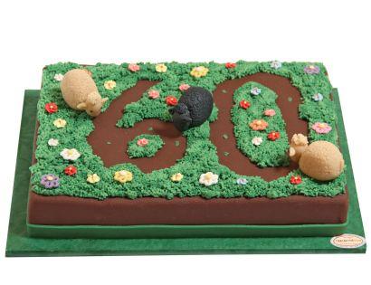 Zahl mit Schafen Torte